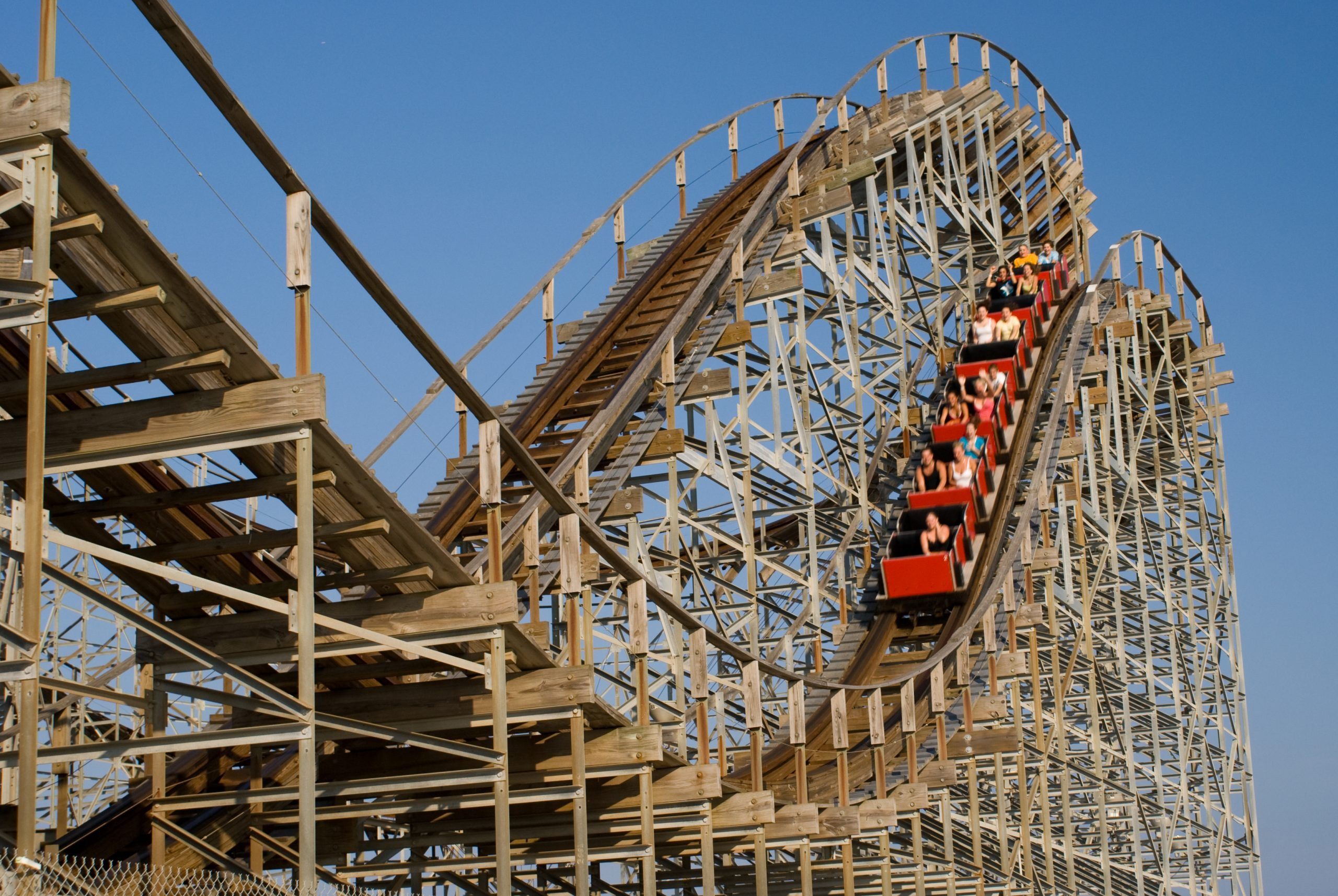Wooden rollercoaster signifying calculated risk