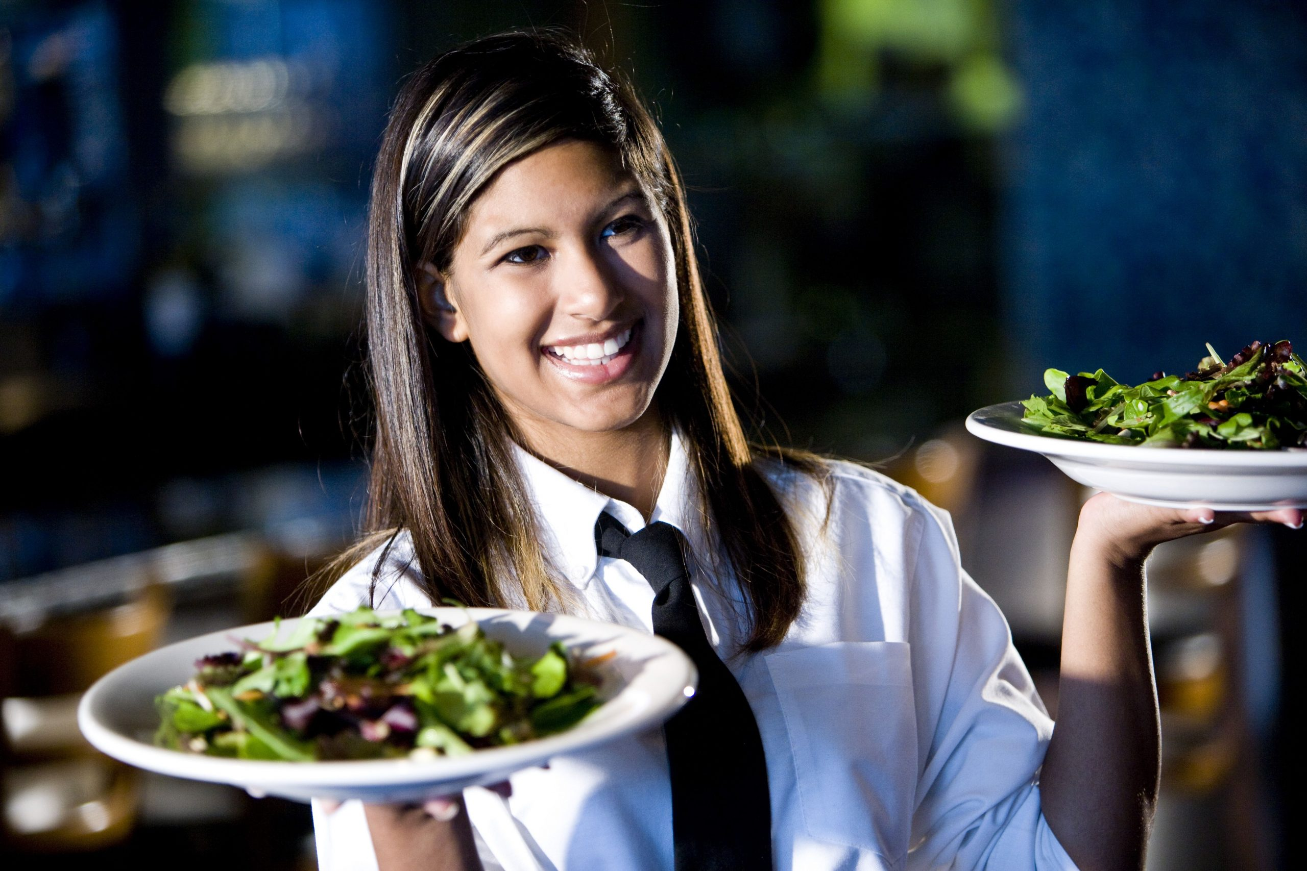 Serving food plater
