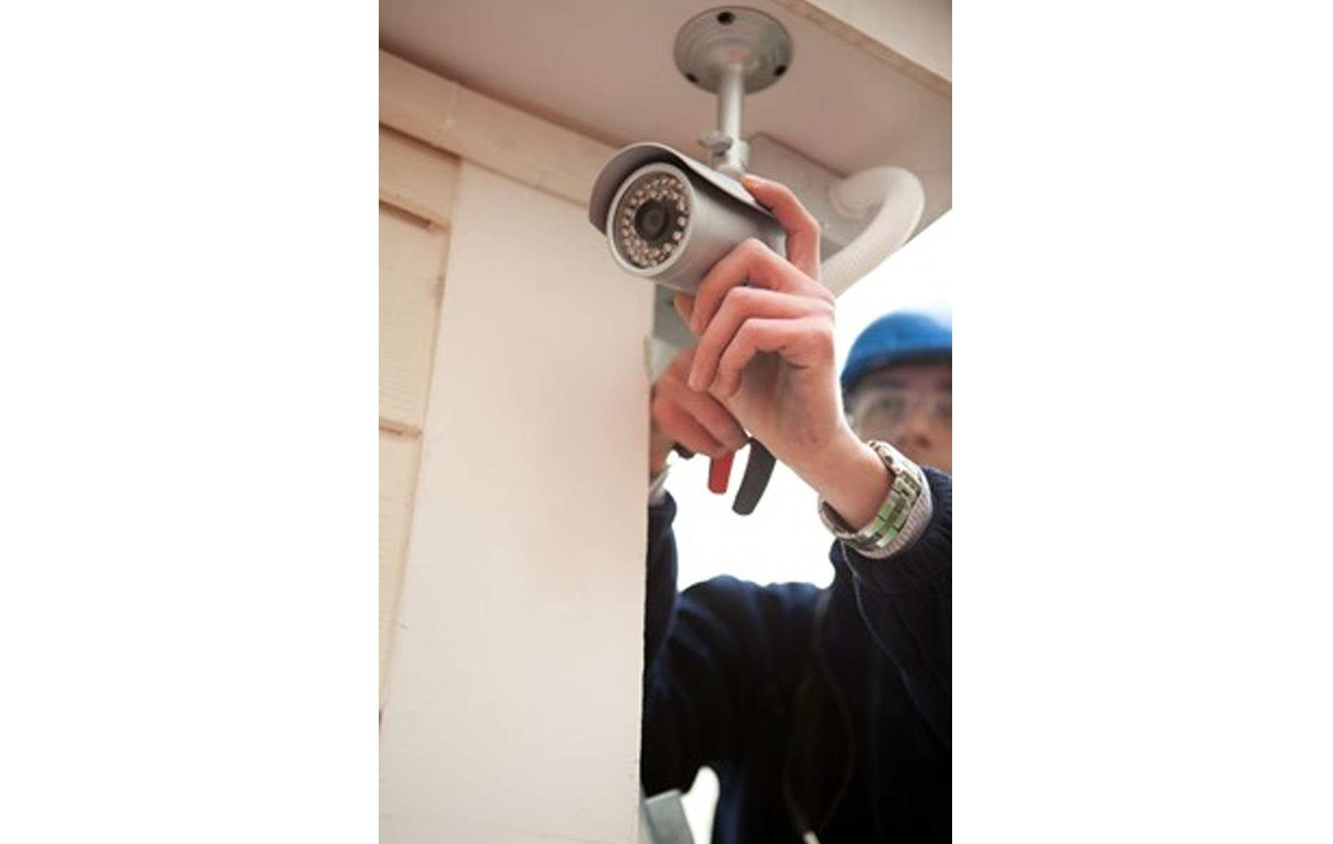 Setting up bullet security camera