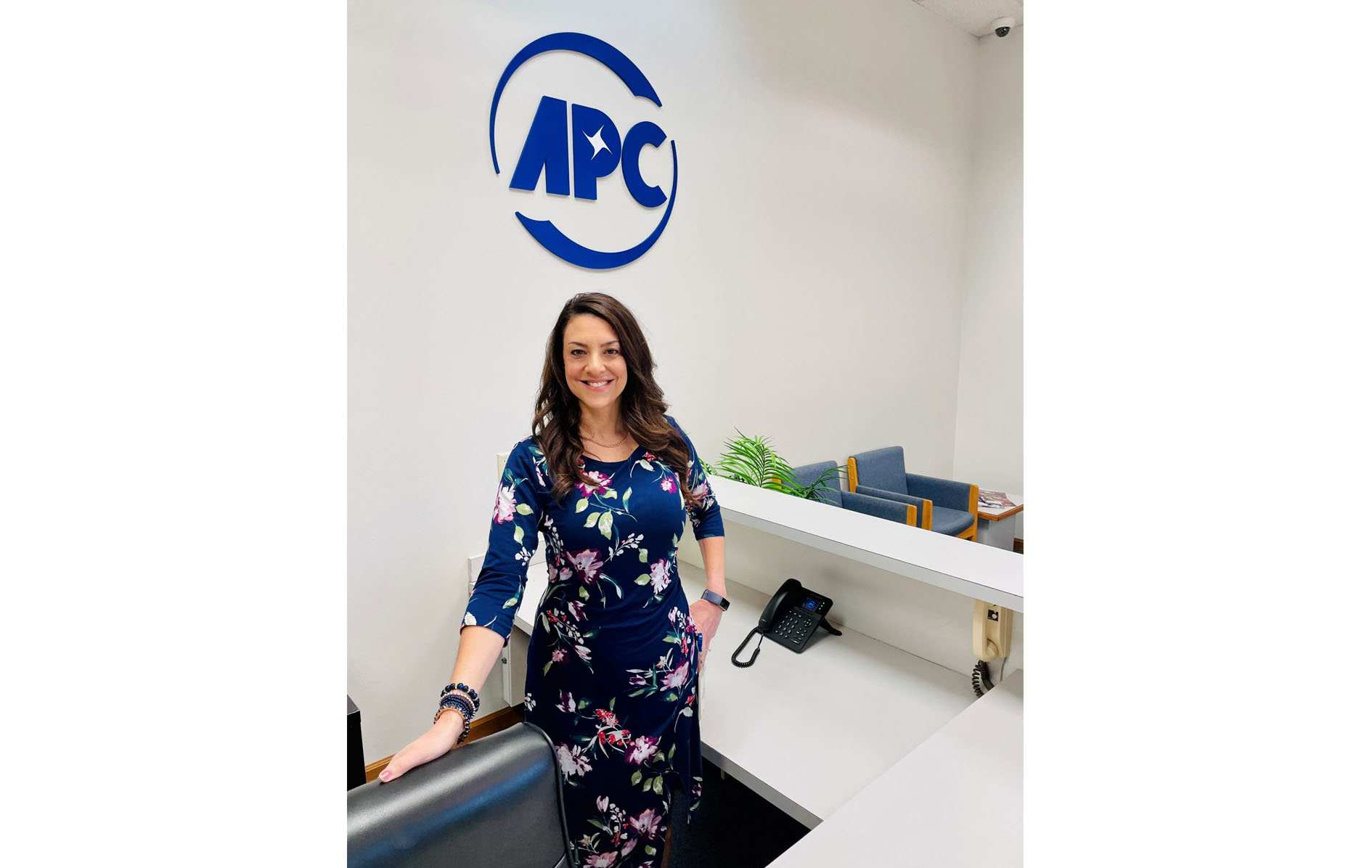 APC office attendant - happy lady